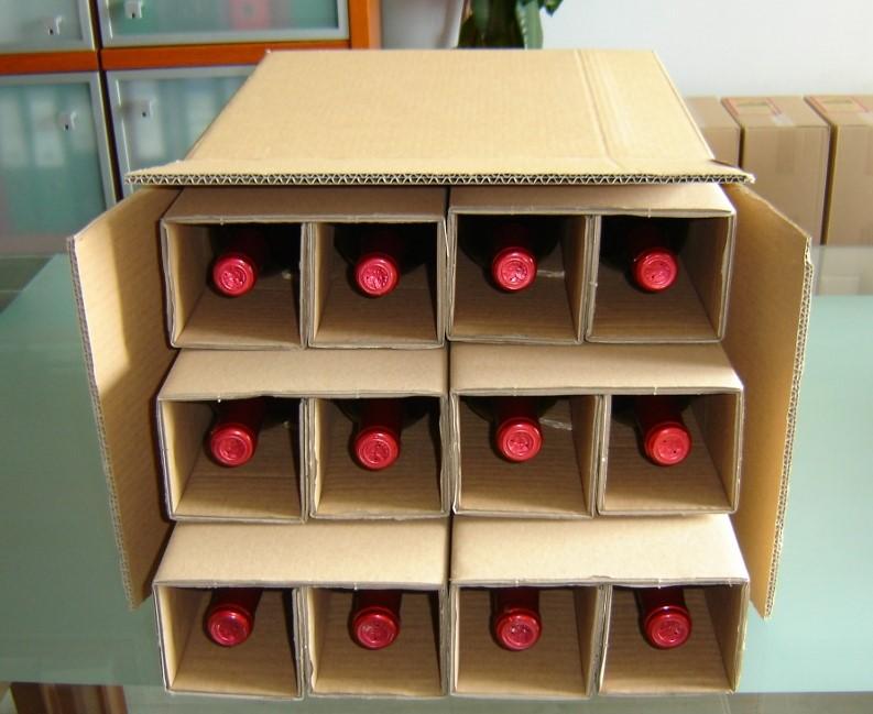 Kartony wysyłkowe na 6 win/kartony wysyłkowe na 12 win